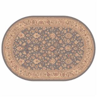 Dynamic Rugs Ancient Garden Collection Oval Hearth Rug-Blue Bonsai