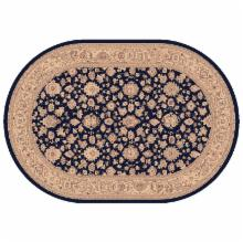 Dynamic Rugs Ancient Garden Collection Oval Hearth Rug-Navy Bonsai