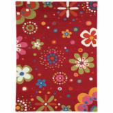 Dynamic Rugs Fantasia Flower Power 1705 Kids Area Rug - Bright Red