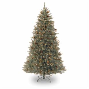 Sherwood Blue Fir Full Pre-lit Christmas Tree