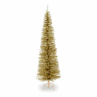 Decorator Champagne Slim Unlit Christmas Tree