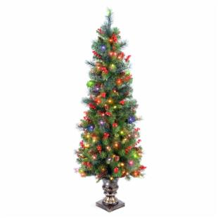 Crestwood Spruce Slim Pre-lit LED Christmas Tree