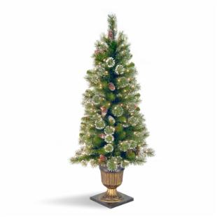 Glittery Pine Entrance Slim Pre-lit Christmas Tree