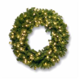 36 in. Norwood Fir Pre-lit LED Wreath