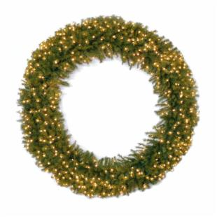 60 in. Norwood Fir Pre-lit LED Wreath