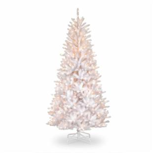 7.5 ft. Dunhill White Iridescent Fir Slim Christmas Tree