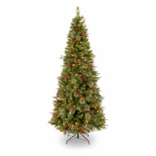 7.5 ft. Feel-Real Colonial Slim Pre-Lit Christmas Tree