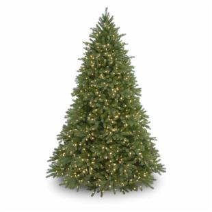 7.5 ft. Feel-Real Jersey Fraser Fir Hinged Pre-Lit Christmas Tree - Clear
