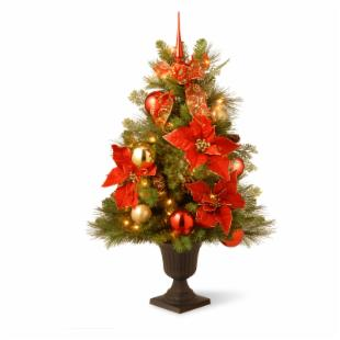 3 ft. Decorative Home For the Holidays Pre-Lit Potted Christmas Tree