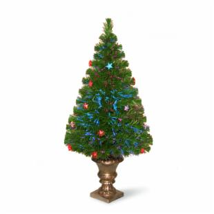 3 ft. Fiber Optic Evergreen Firework LED Christmas Tree