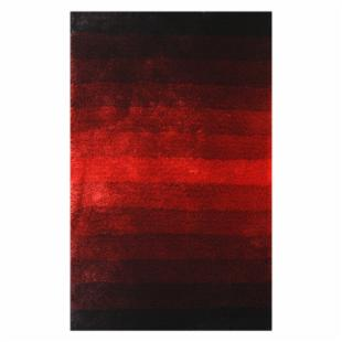 Noble House Jewel Area Rug - Black/Red