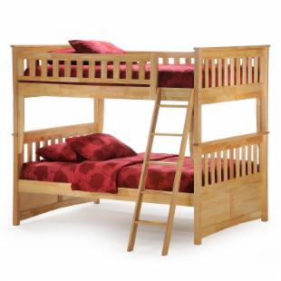 Ginger Natural Full Over Full Bunk Bed