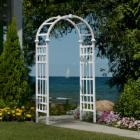  Eden Athens 7-ft. Vinyl Arch Arbor