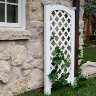New England Arbors 4-Foot Vinyl Luxembourg Privacy Arch Trellis