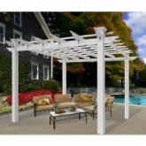  New England Mirage 10.75 x 10.75-ft. Vinyl Pergola