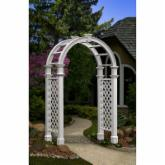  New England Arbors Nantucket Legacy 7-Foot Vinyl Arch Arbor - VA84251