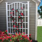  New England Arbors White Vinyl Grande Arch Trellis
