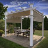  New England Arbors White Vinyl Malibu Pergola