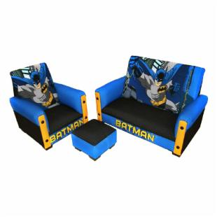 Warner Brothers Batman 3 Piece Toddler Sofa Set