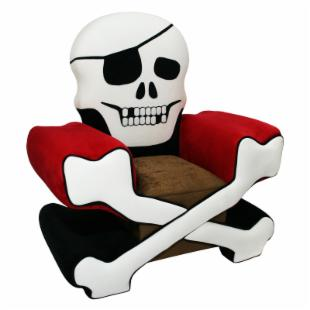 Harmony Kids Skull Chair Boy