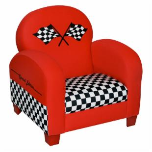 Harmony Kids Race Car Chair - Red