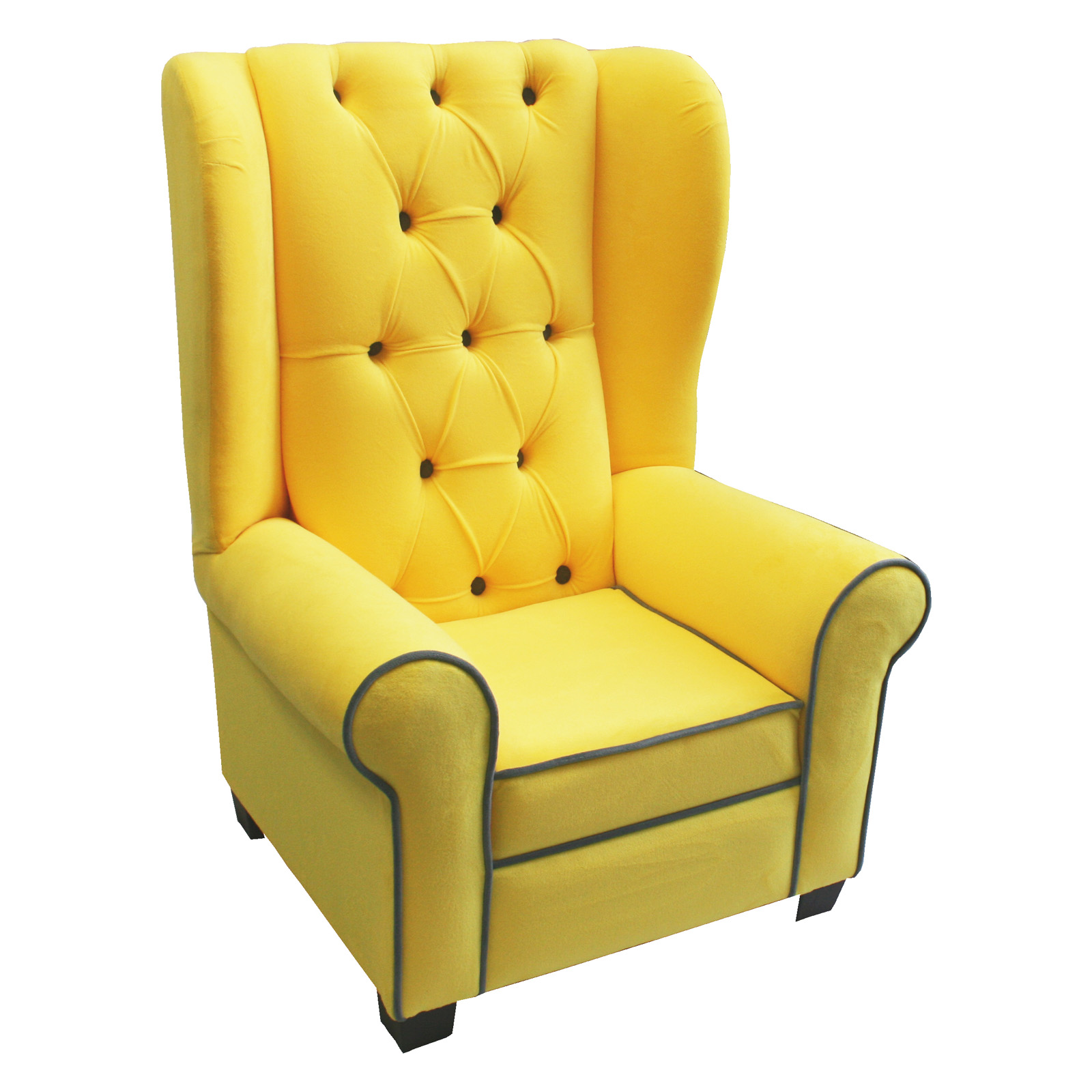 Newco Kids Mirage Chair Yellow With Gray Accent Dup Do