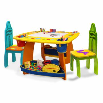 Grown Up Crayola Wooden Table amp Chair Set Activity