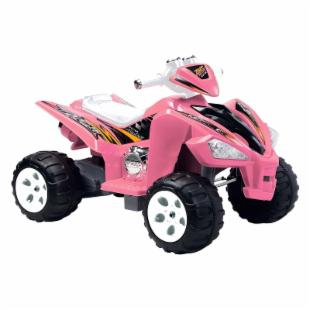Happy Rider 6 Volt Battery Operated Hot ATV Ride On - Pink