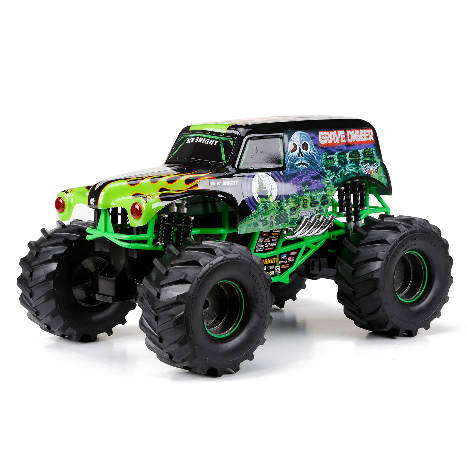 new bright full function monster jam grave digger remote controlled toy vehicles remote. Black Bedroom Furniture Sets. Home Design Ideas