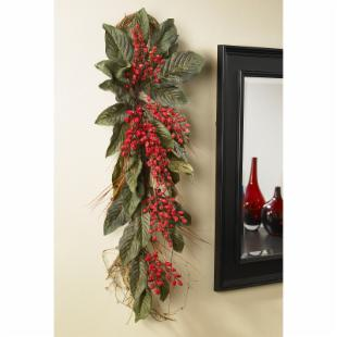 30-Inch Golden Chili Berry Teardrop Arrangement
