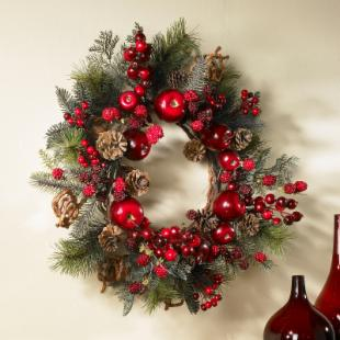 22 in. Apple Berry Wreath