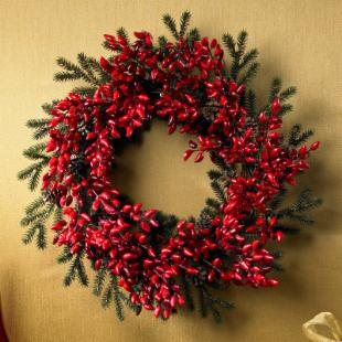 24 in. Christmas Pepper Wreath