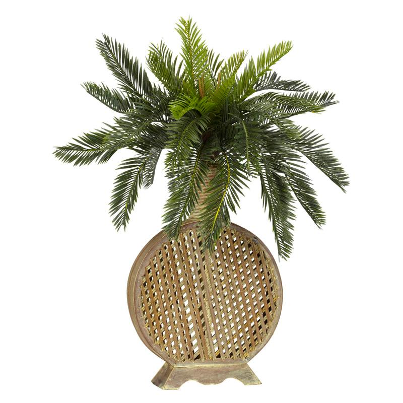 Cycas with Decorative Vase Silk Plant NN245-1