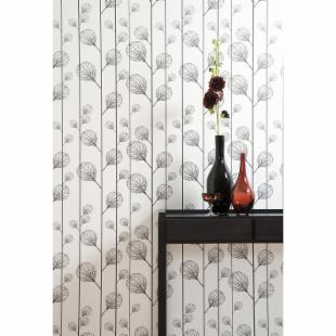 Ribbed Wallpaper - Black/Beige