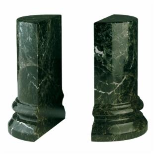 Jade Green Column Marble Bookends