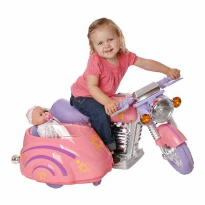  Battery Powered Super Motorcycle with Side Car   Pink