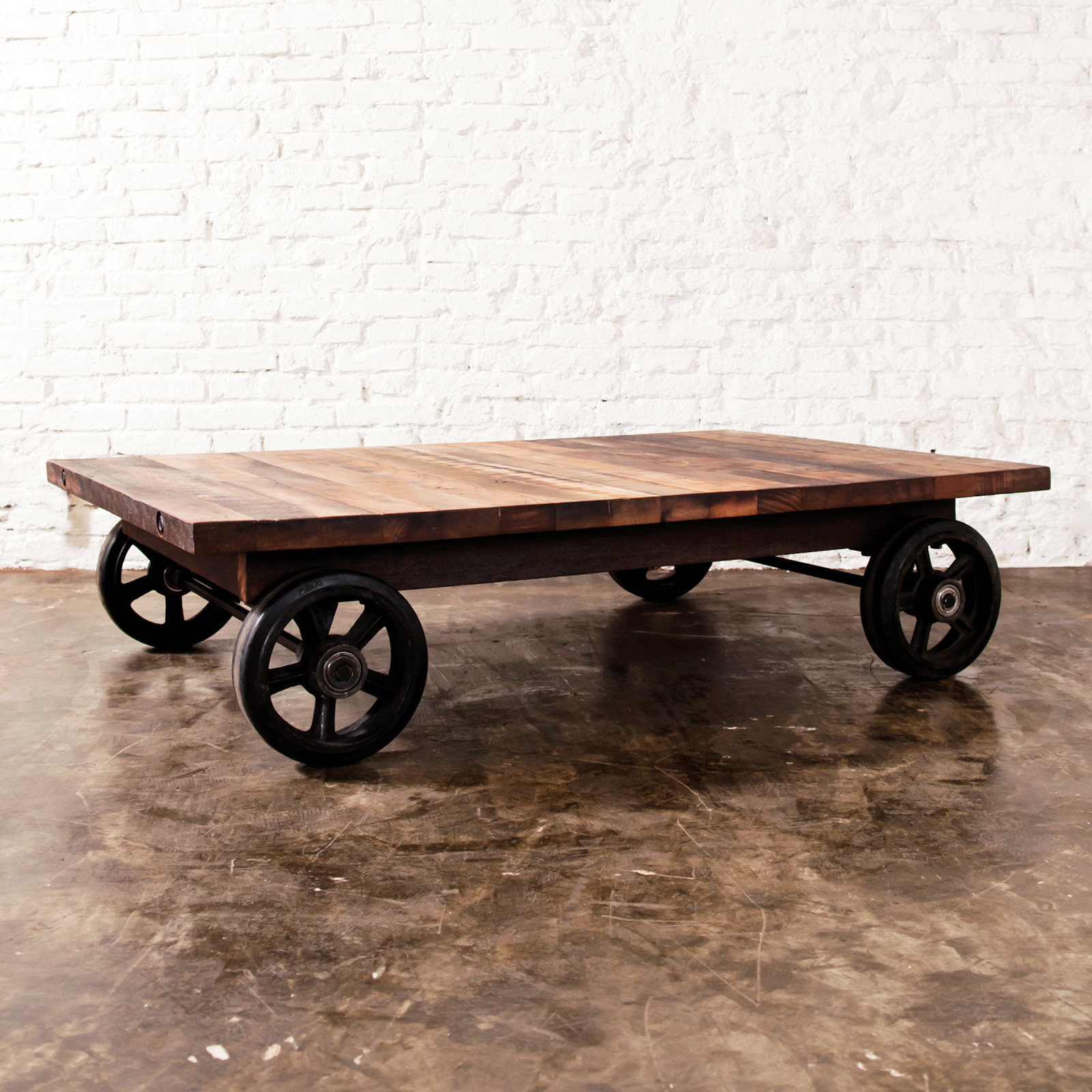 Working Project Verna Diy rail cart coffee table