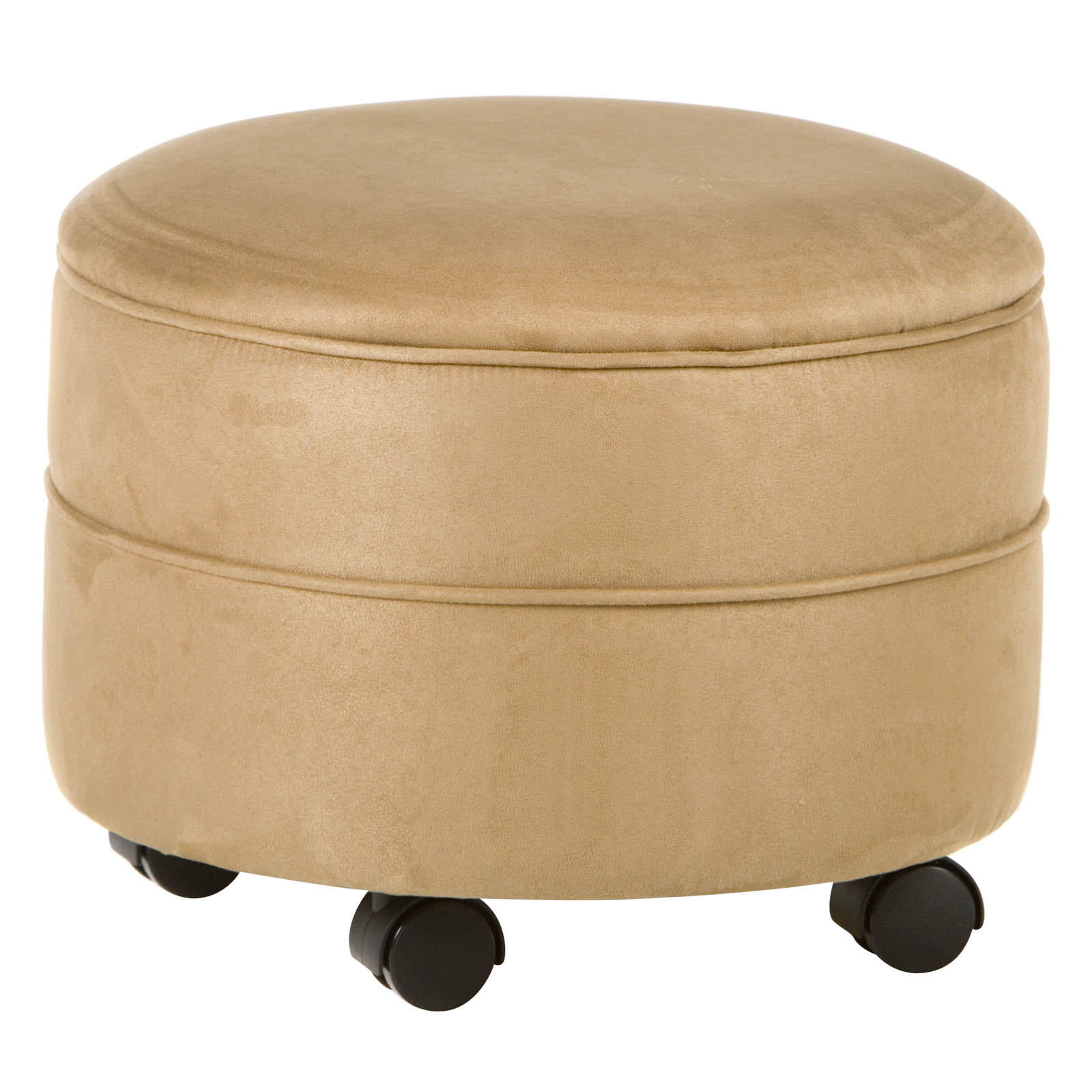round suede storage ottoman at hayneedle. Black Bedroom Furniture Sets. Home Design Ideas