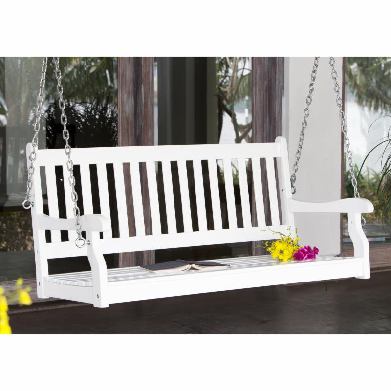 Coral Coast Pleasant Bay Traditional-Back Porch Swing, 4-Ft White, 5-Ft Also Available FREE Shipping!