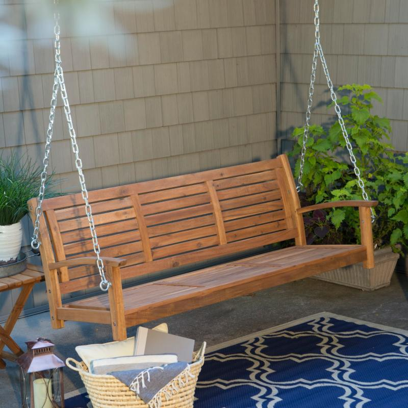 Coral Coast Norwood 5 ft. Outdoor Horizontal Slat Back Porch Swing FREE Shipping!