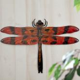  3D Dragonfly Metal Outdoor Wall Art