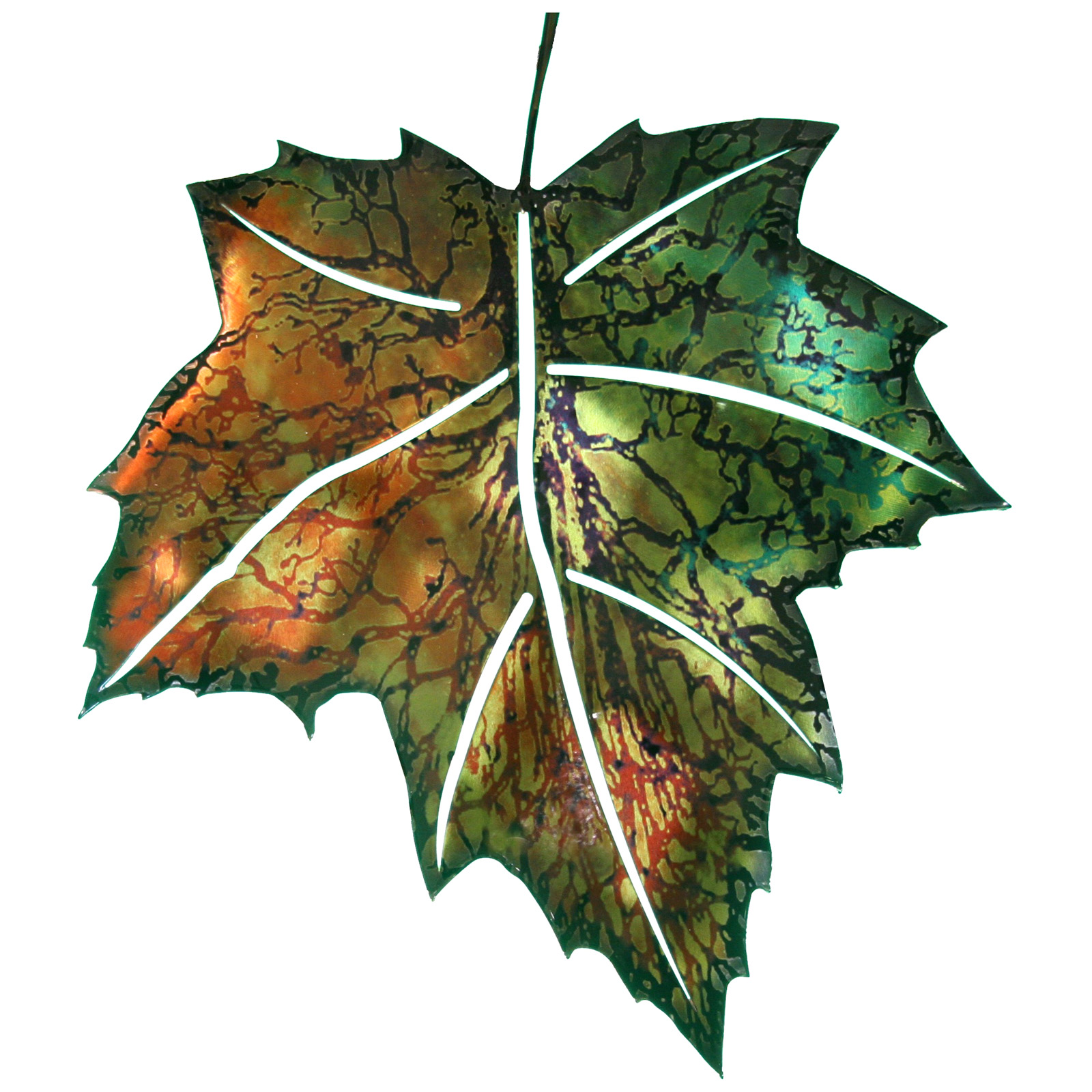 3d maple leaf metal outdoor wall art at hayneedle for 3d garden decoration