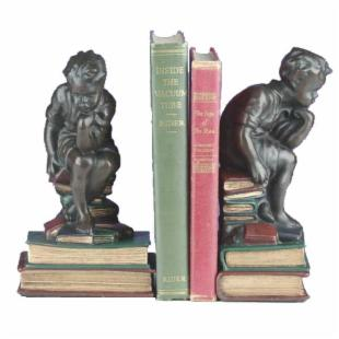 Boy Thinking Bookends