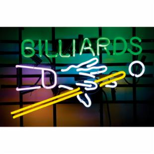 Billiards Hands &amp; Cues Neon Pub Sign