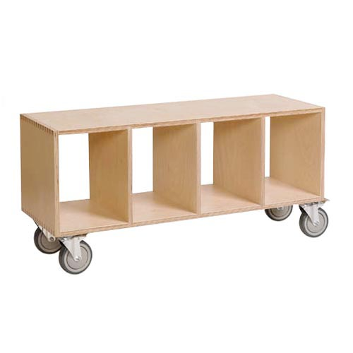 Offi Bench Box Bookcase With Casters At Hayneedle