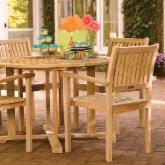  Warwick Patio Dining Set with Stackable Chairs by Oxford Garden
