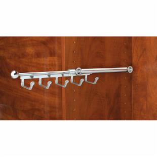 Rev-A-Shelf RCBSR-12-SN 12 in. Belt/Scarf Rack - Satin Nickel