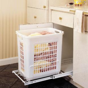 Rev-A-Shelf RHRV-1520S Pull-Out Wire Hamper - White