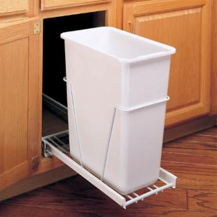 Rev-A-Shelf RRV-14PBS 20 qt. Pull-Out Vanity Container with Full Slides