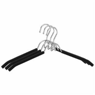 Chrome with Foam Shirt Hangers - Set of 36